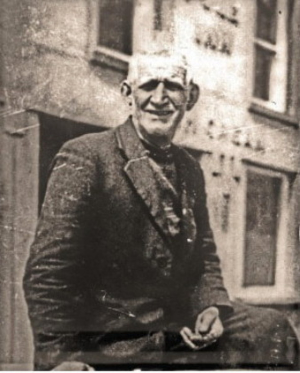 Last Known Photo of Tom Crean, outside the South Pole Inn, late 1930s