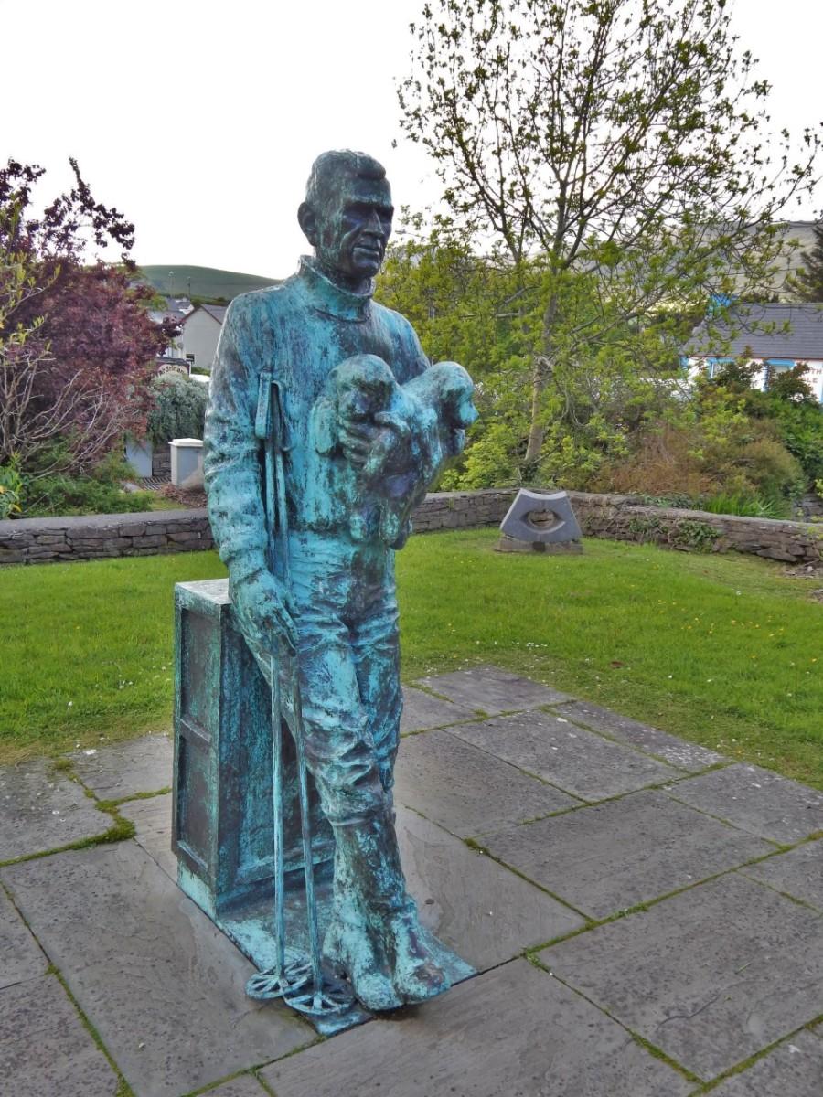 Tom Crean memorial statue, Annascaul
