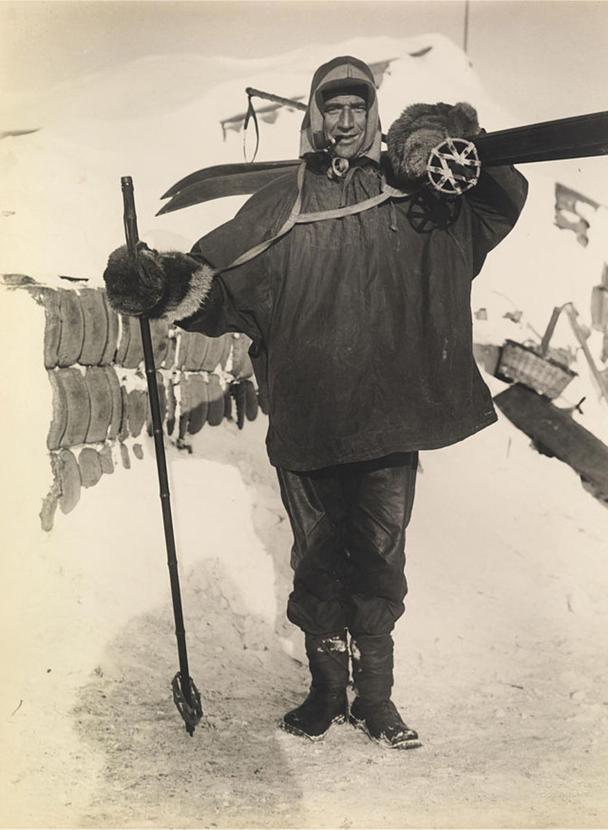Tom Crean in Full Polar Travelling Gear, taken during Scott's Antarctic Expedition of 1911.