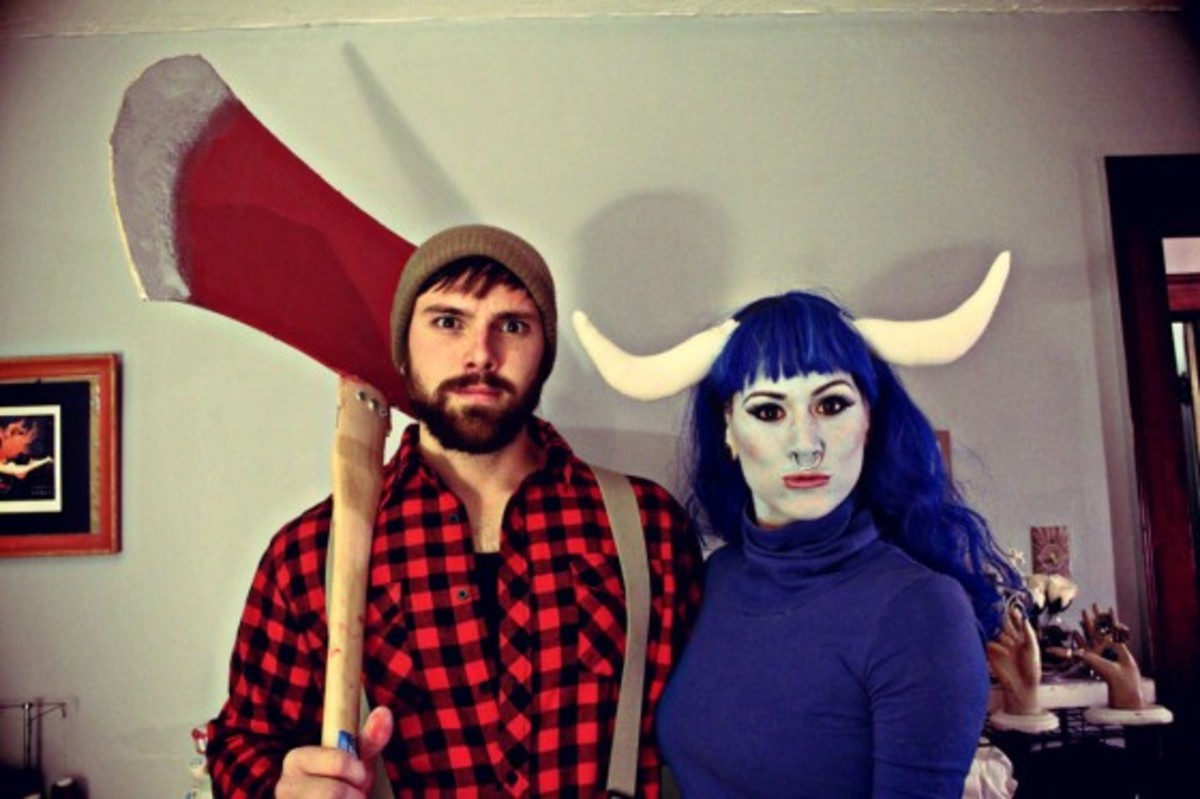 More homemade lumberjack Paul Bunyan and Babe the Ox costume ideas for Halloween