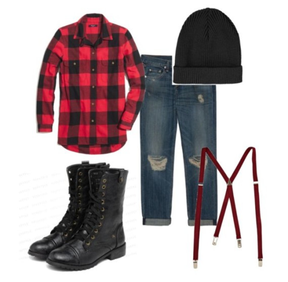 Here's what you will need to put together a lumberjack costume for Halloween