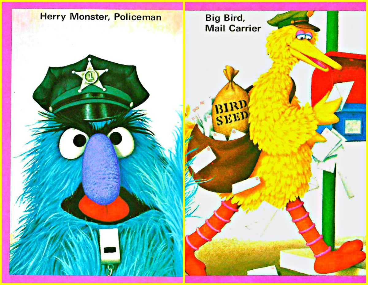 Wonderful photo art of Charles P. Rowen, Herry the Monster ans a Sesame Street Policeman, and Big Bird ans a Sesame Street  Mail Carrier. The magical world of Jim Henson's Muppets is brought to life by Charles Rowen and his camera ...
