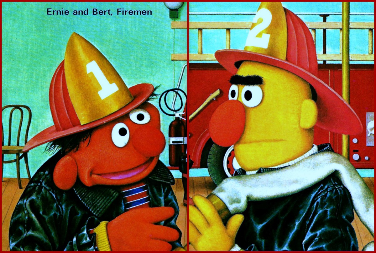 Ernie and Bert, Firemen on Sesame Street ... Once again the magical world of Jim Henson's Muppets is brought to life by Charles Rowen and his camera.