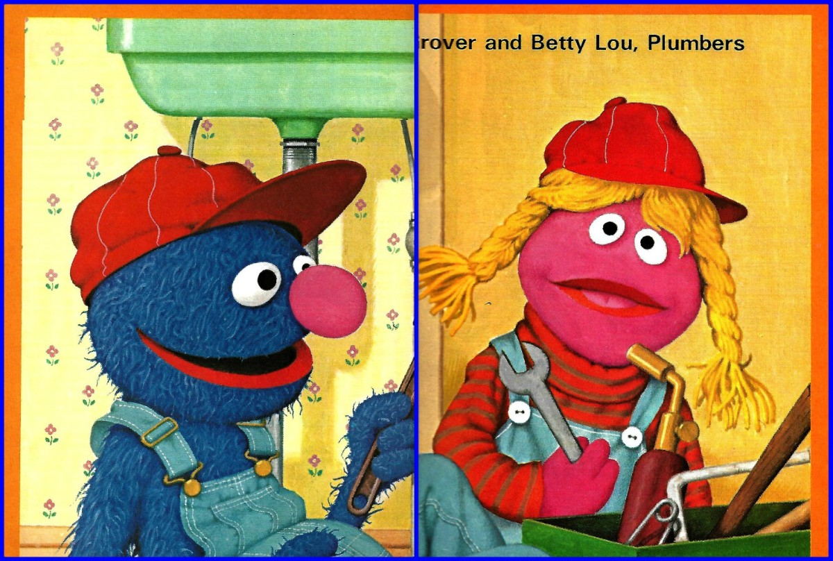 Once again the magical world of Jim Henson's Muppets is brought to life by Charles Rowen and his camera. Here we have Grover and Betty Lou as plumbers on Sesame Street.