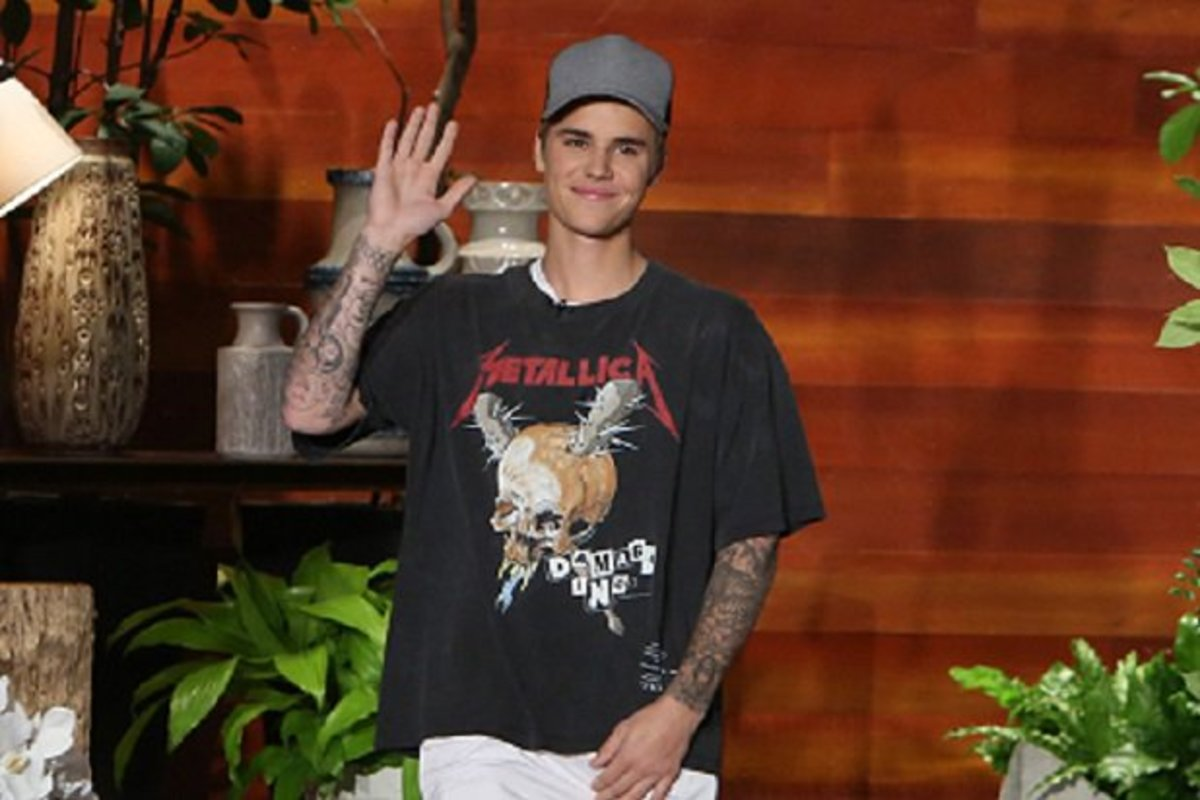 Justin Bieber, while on the Ellen Show!