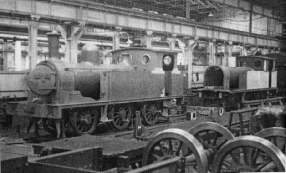 Seen here in 1951 under construction at North Road Works, Darlington as BR(NE) 69023 - used prmarily on pilot/shunting duties at York, then Newcastle-upon-Tyne Class E1 built 1898, further batches under LNER (1930s) and BR (1950s) photo: HD Bowtell