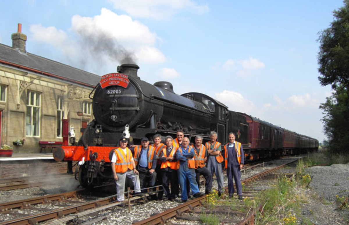 Volunteers crowd around K1 62005 at Hellifield on the Settle & Carlisle Railway on their way to the West Highland Line. Maybe you'll be a volunteer with them, or support their work. Maybe you'll travel to Fort William or the Kyle of Lochalsh to visit