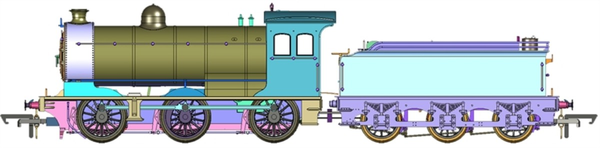 One of the CAD images of the Oxford Rail J27, to be released on sale later this year (2019), in LNER and BR early and late liveries