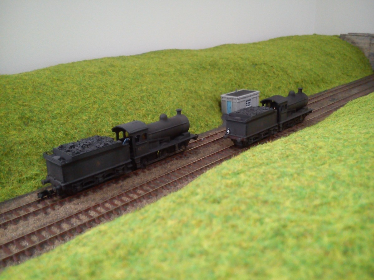Roy Marshall, NELPG Company Secretary is also a keen modeller in 2mm/N Gauge. He sent me this image of two of his Union Mills Class J27 conversions to J26 (65747 and 65748 were allocated to West Hartlepool - 51C) .