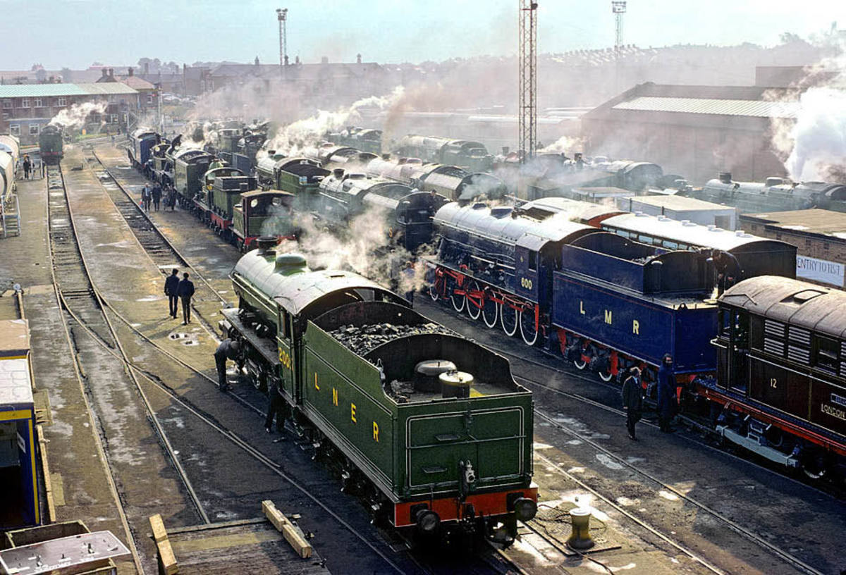 The K1 in LNER Darlington green livery at the 1975 S&DR 150 event, Shildon. The group ballots members by post on their preferred choice of livery after each overhaul