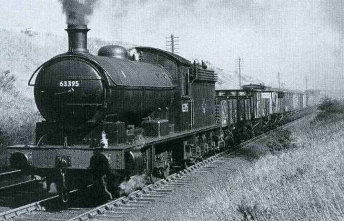 Class Q6 63395, Seaton Bank, County Durham August 1967, shortly before withdrawal by BR(NE) and purchase by NELPG