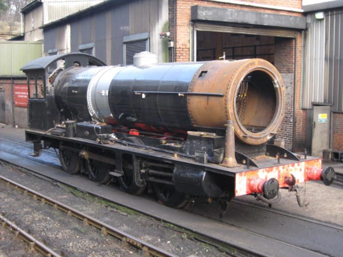 63395 in mid-overhaul stands outside Deviation Shed  January 2007 with her smokebox awaiting attention (R Pearson)