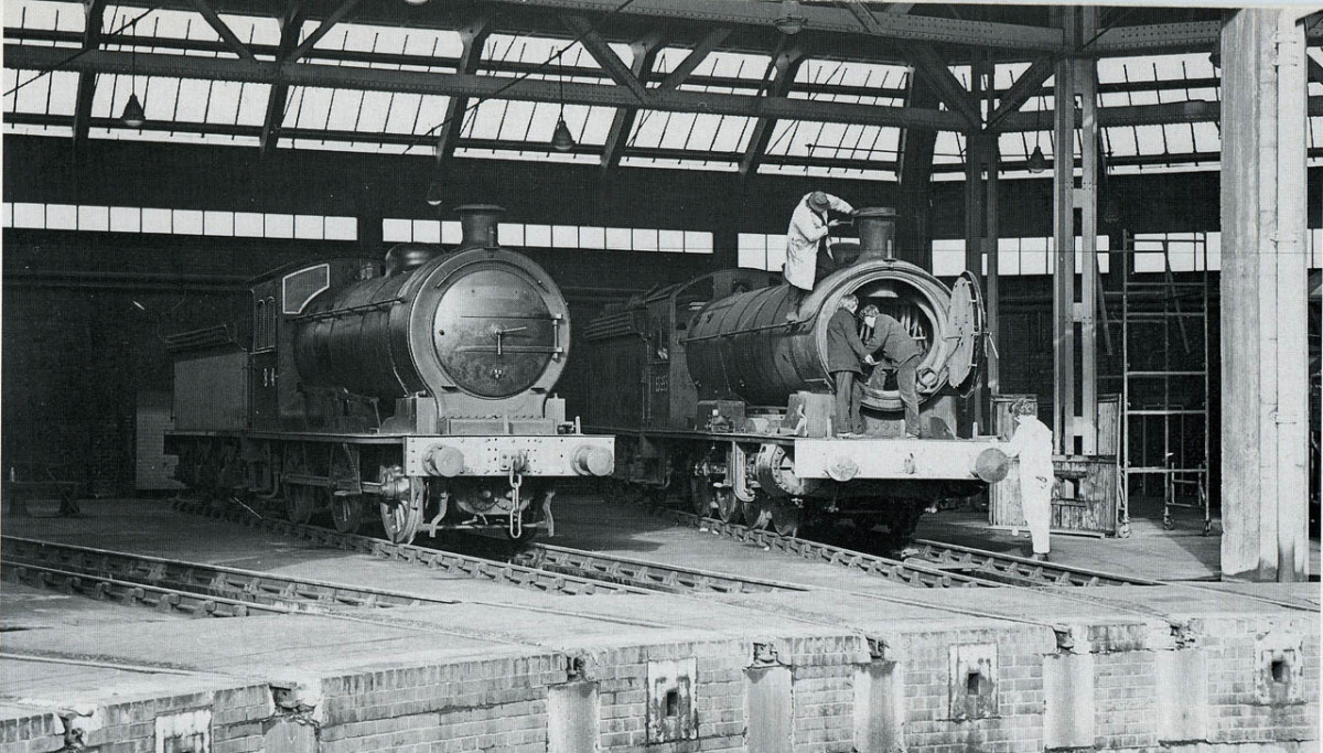 Thornaby Shed (51L), 65894 and 63395 at rest between turns early in 1967 before withdrawal and purchase by NELPG