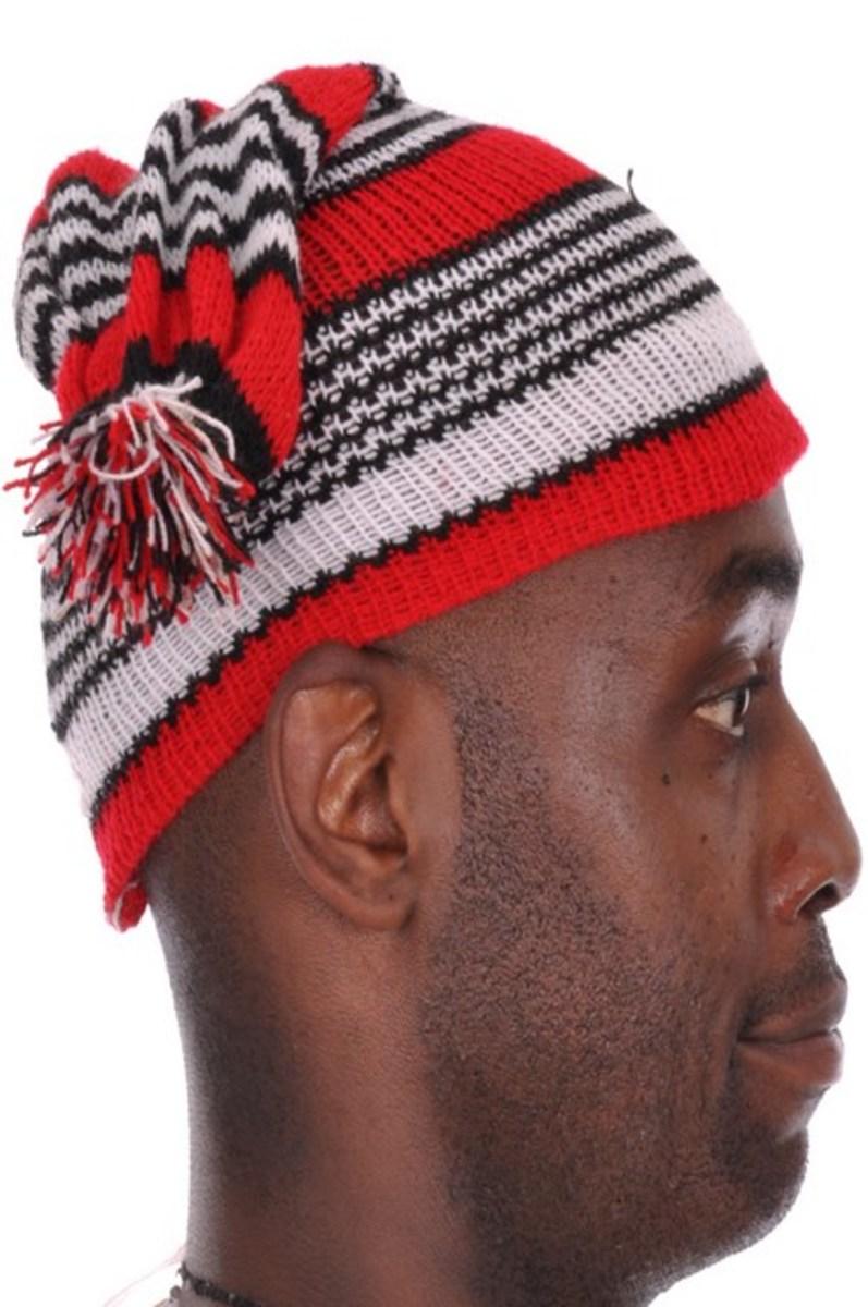 African Igbo Okpu Agu Cap Hat-