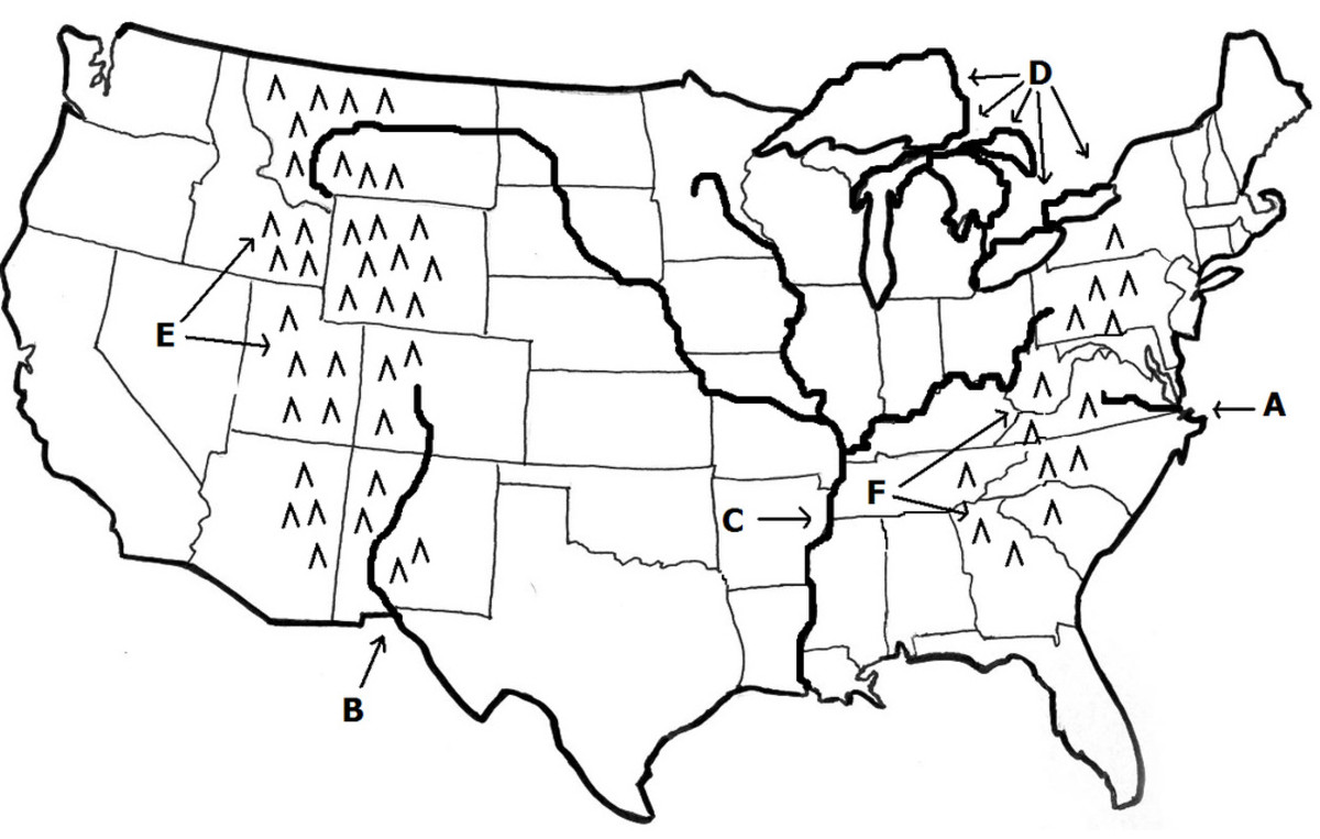 Map of the US from https://elliemae345.weebly .com/