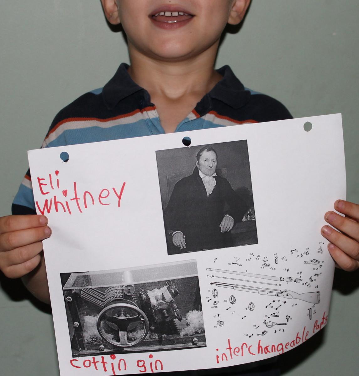 Student biography presentation on Eli Whitney
