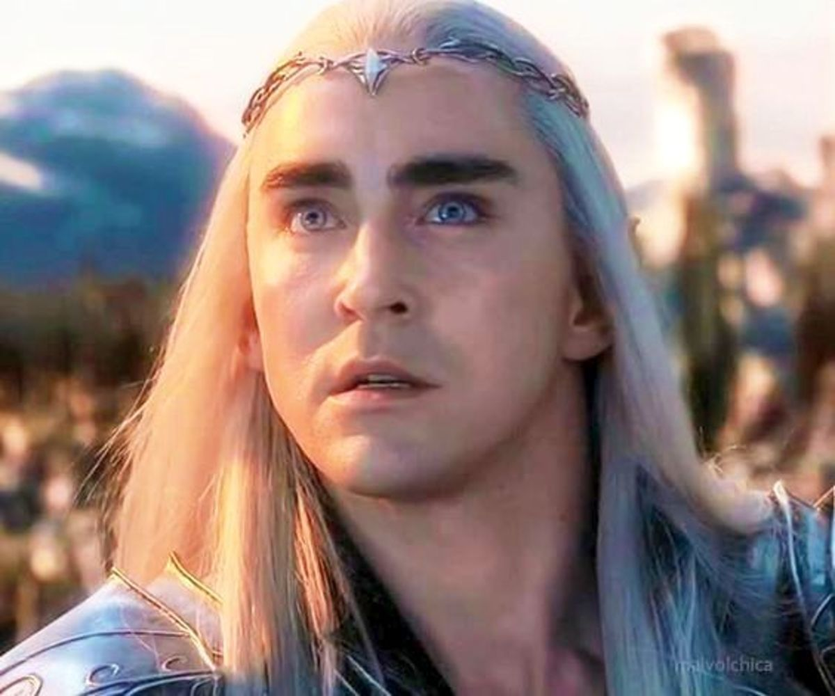 From New Line Cinema.  The Hobbit's portrayal of King Thranduil comes closest to seeing what Thingol's attitude was towards his territory and outsiders.