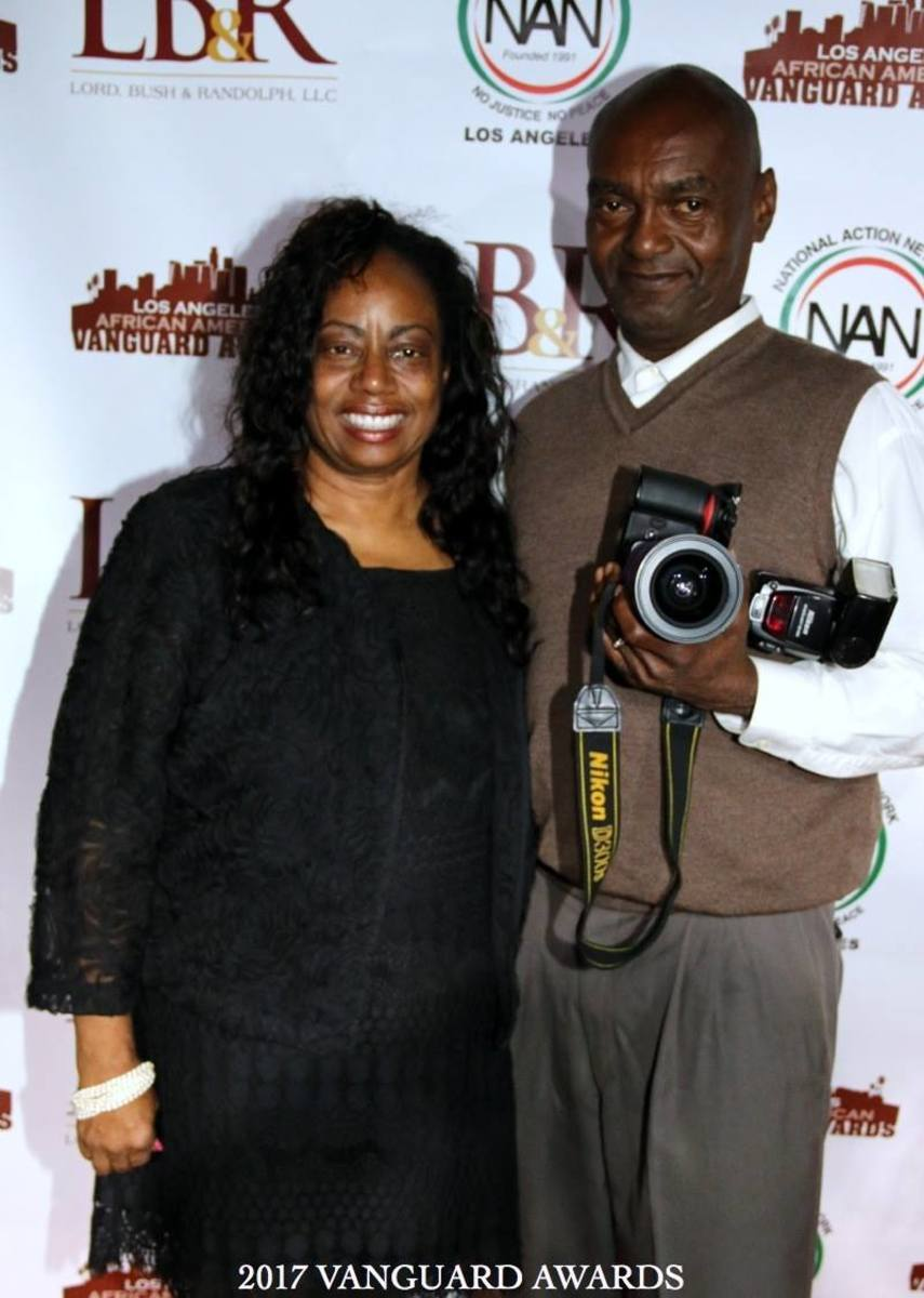 Cynthia Horner and husband, Ken Harris of Right On! Media Holdings, LLC  celebrated African-American Heritage Month 2019 at Queens Borough Hall in New York with actor, Obba Babatunde