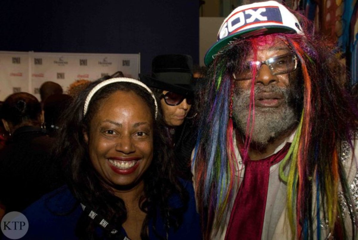 Cynthia Horner with George Clinton of Parliament Funkadelic.
