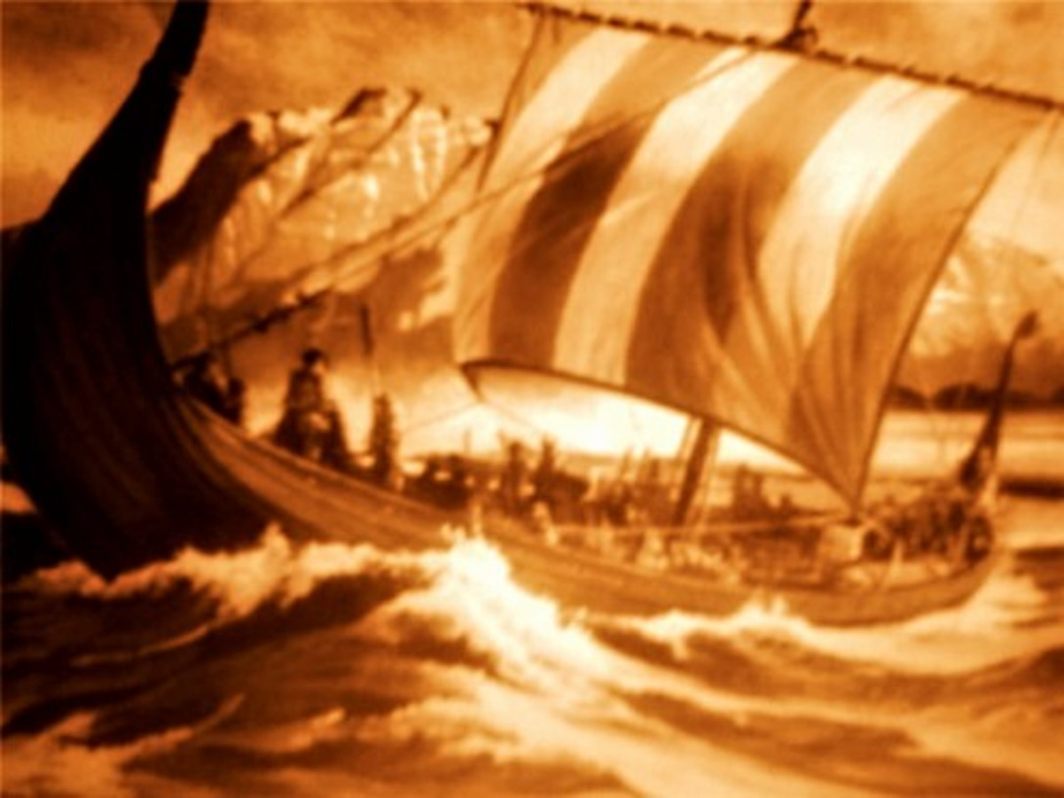 The Vikings fought strong currents to cross the North Sea using their superior strength and seamanship.