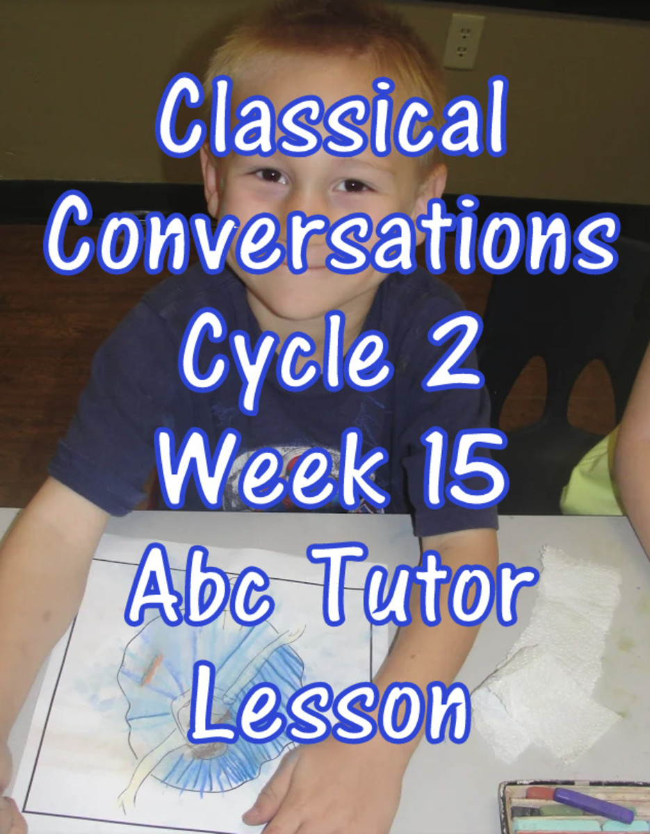 CC Classical Conversations Cycle 2 Week 15 Abc Tutor Lesson Plan