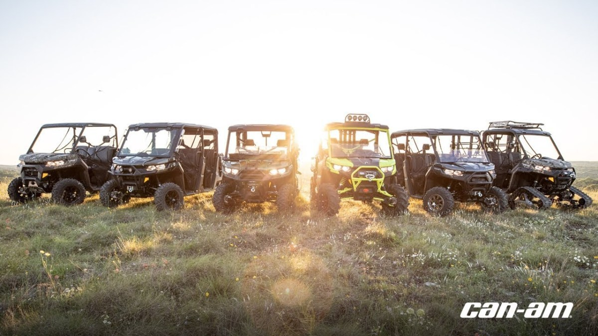 2020 Can-Am side by side lineup.