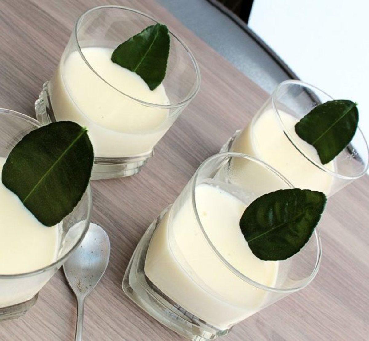 Lemongrass panna cotta