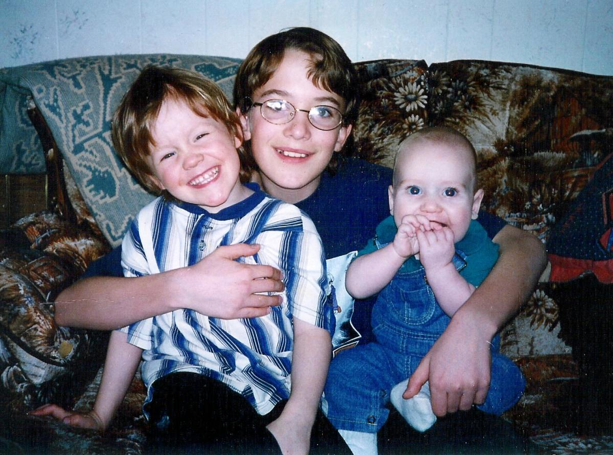 Derrick - on the left. A beautiful smile even then.