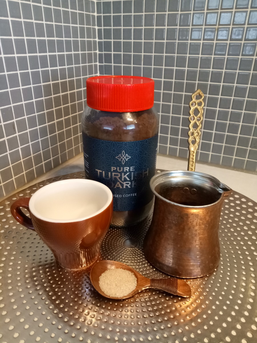 Making a strong Greek Coffee brew at home is easy!