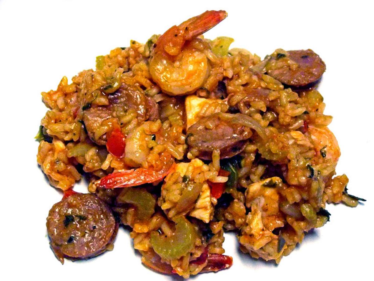 Shrimp Chicken Jambalaya, Simply Delicious