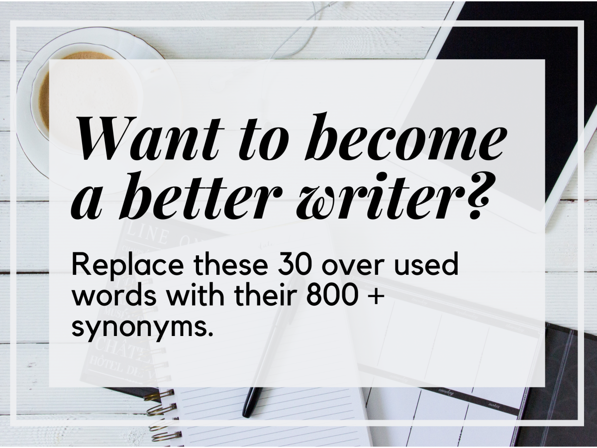 Want to Become a Better Writer? Replace These 30 Overused Words with Their 800 + Synonyms.