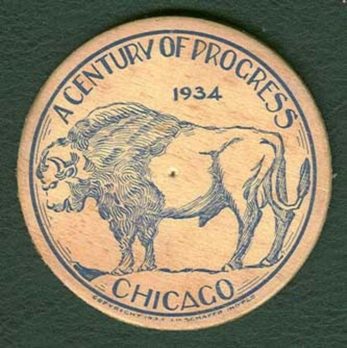 Wooden Nickel form the 1934 World's Fair
