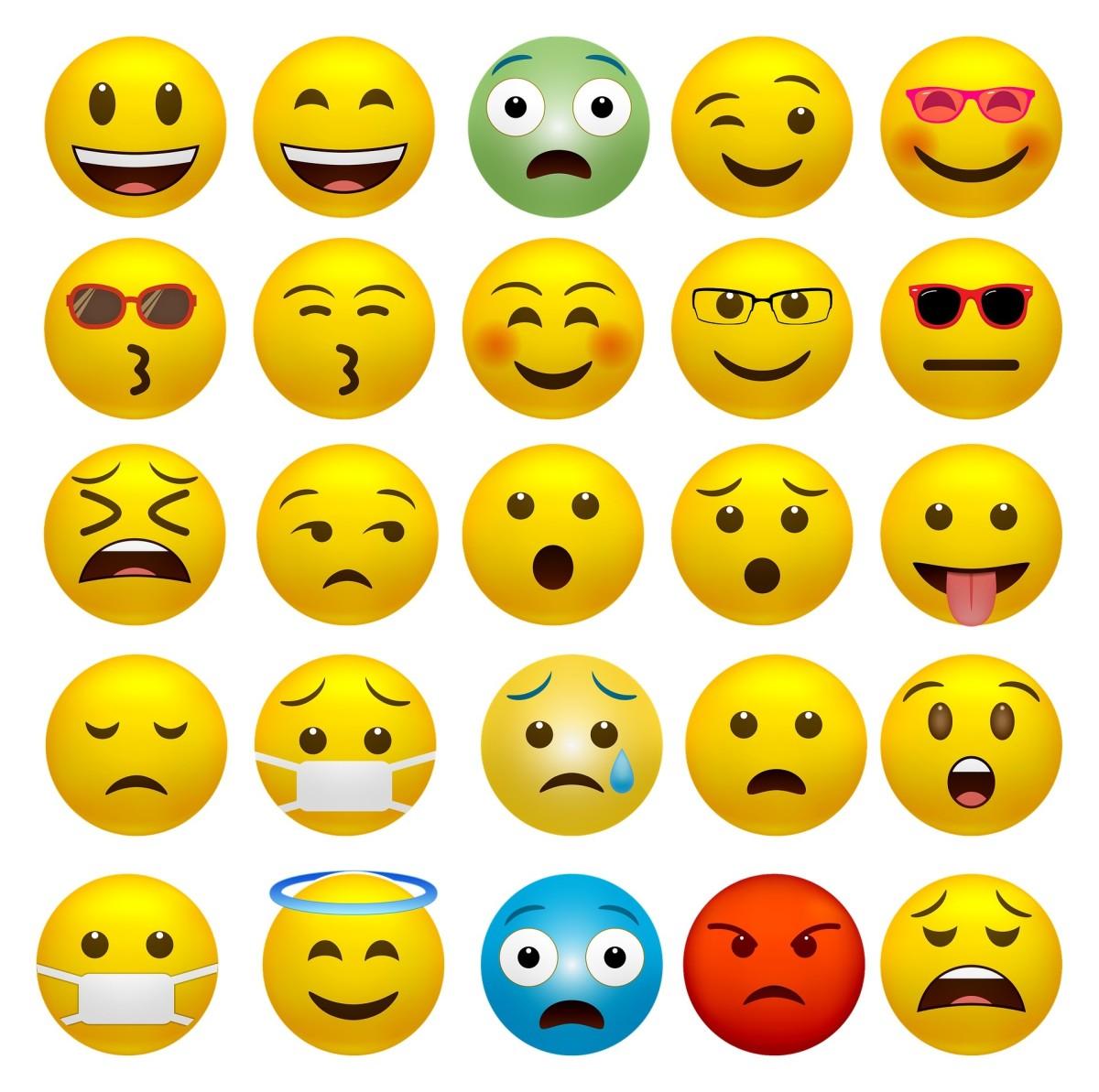 Sample emoji to frame the storyboard