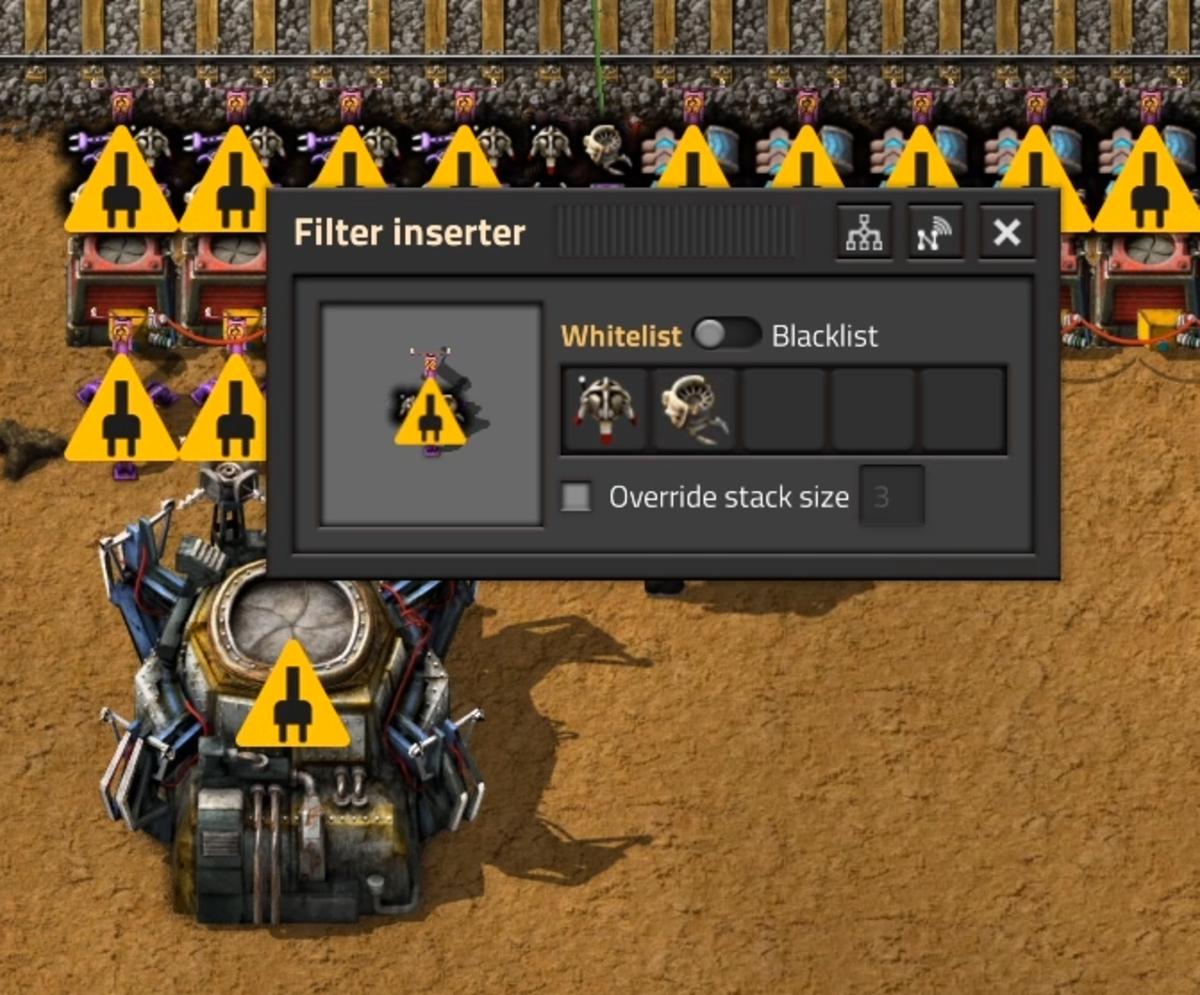 Filter Inserter settings