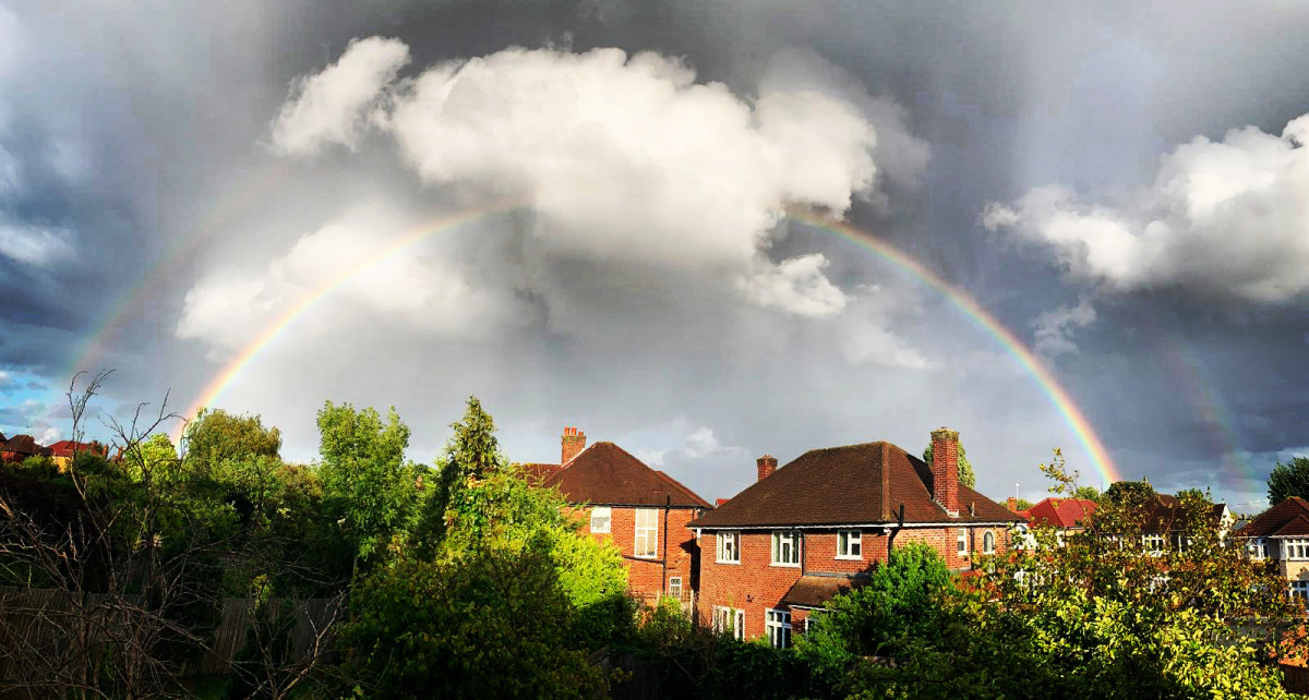Double rainbow spotted in London