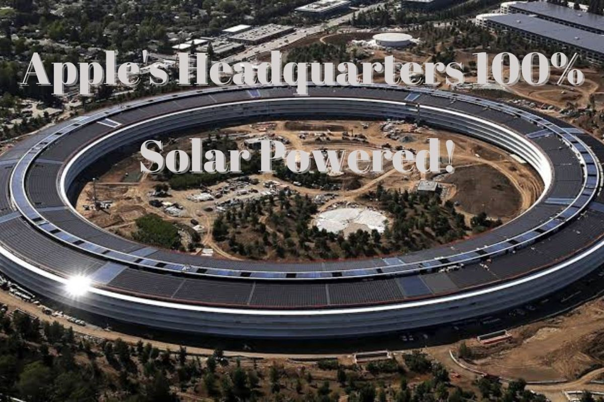 Apple's Headquarters Powered Entirely By Solar Energy!