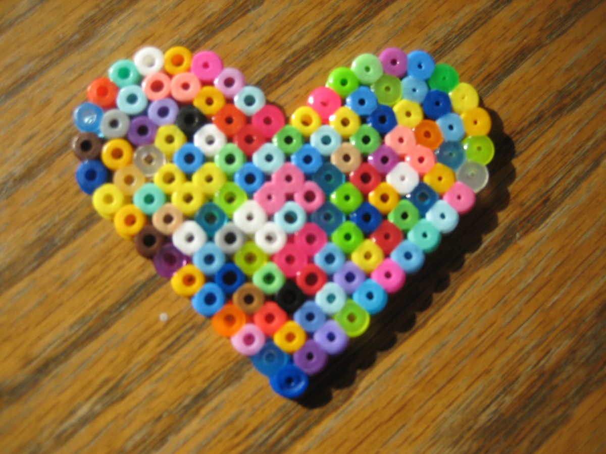 Heart created by my 3 y/o.  Heart pegboard used.