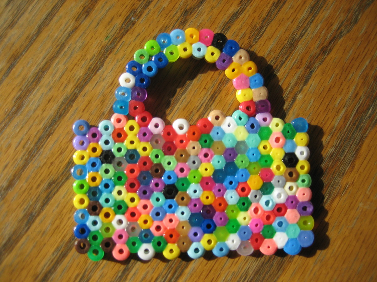 Purse created by my 3 y/o.  Purse pegboard used.