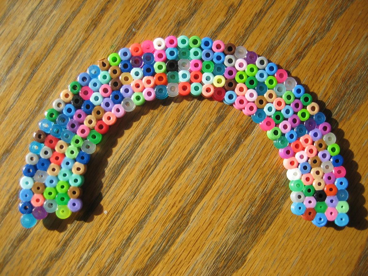Rainbow created by my 3 y/o.  Original design.