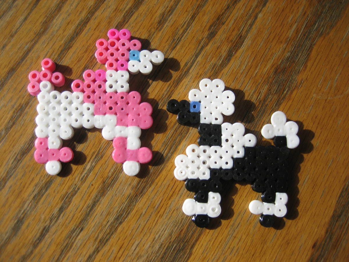 Poodles created by my 10 y/o.  Templates found online.