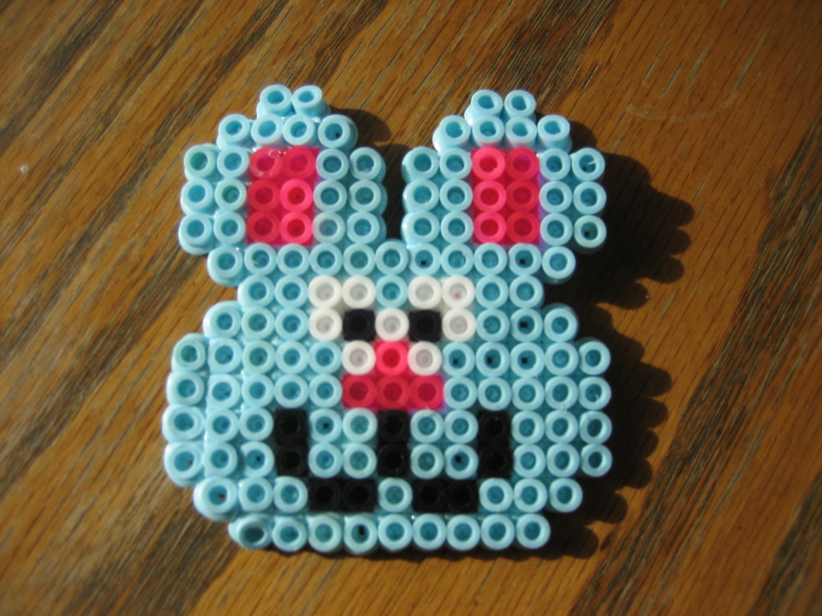 Easter Bunny created by my 10 y/o.  Template found in pattern book.