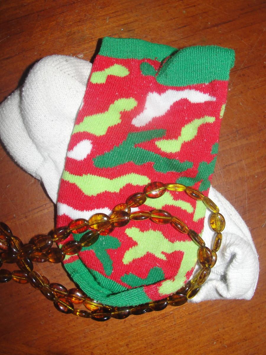 Static socks & amber