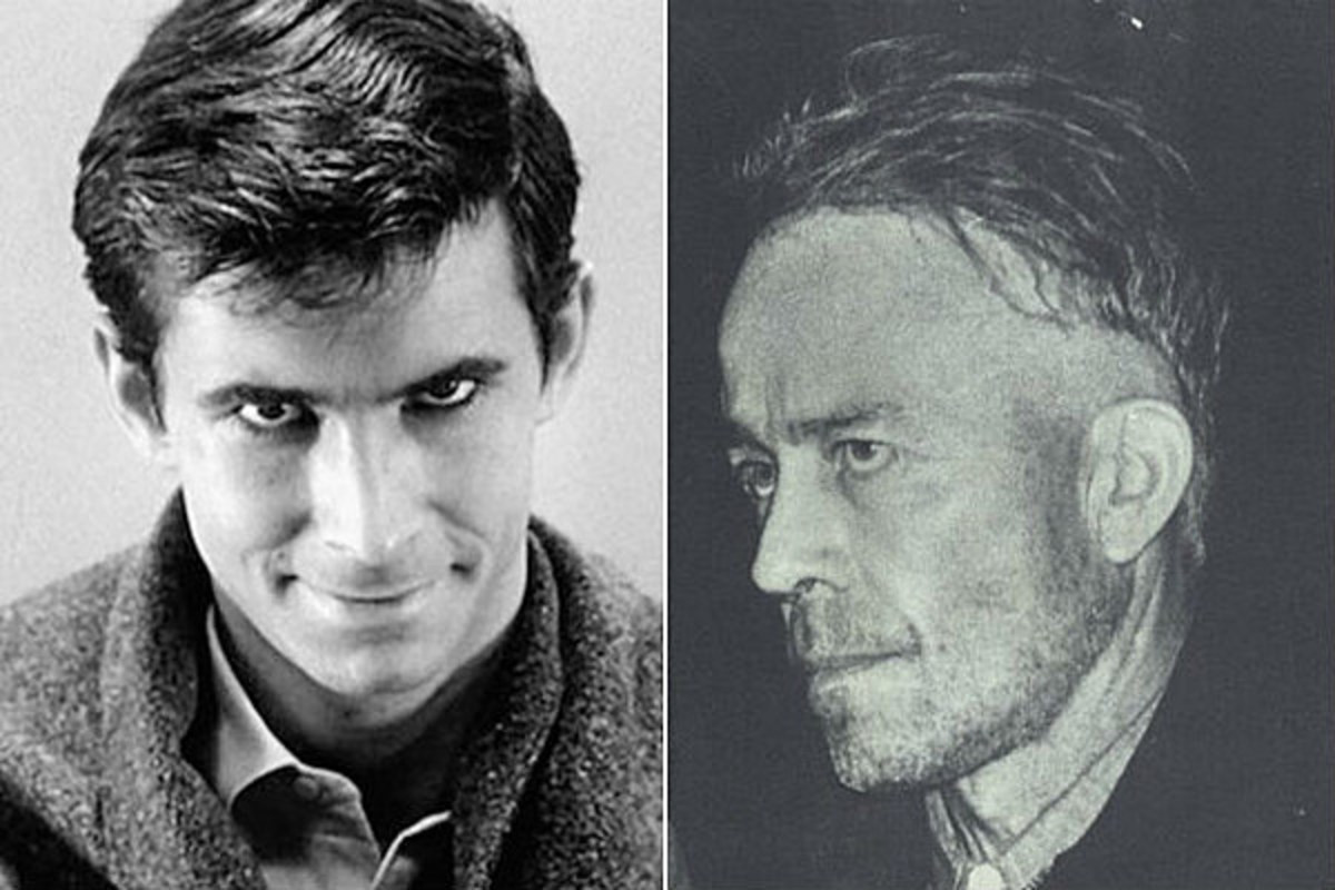 Norman Bates from the film Psycho and serial killer Ed Gein.