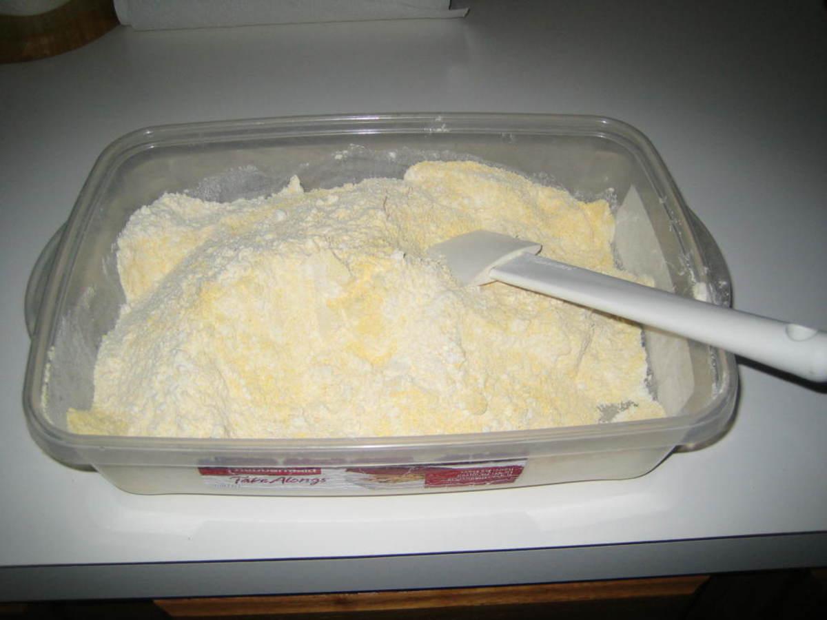 Flour and Corn Meal mix