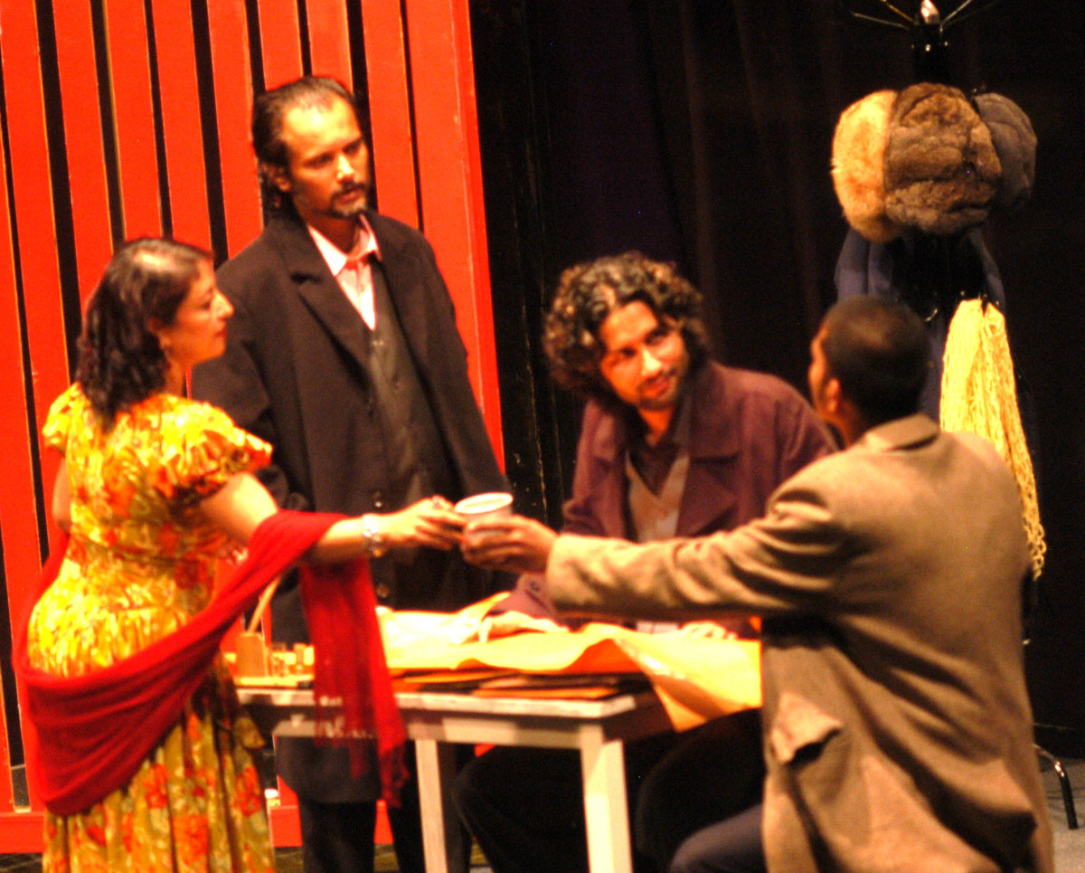 Scene from Les Justes produced and performed by Aarohan Theater Group, Nepal