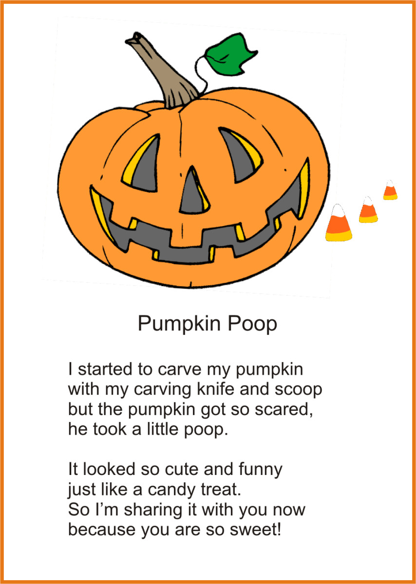Printable Pumpkin Poop Poem for Halloween