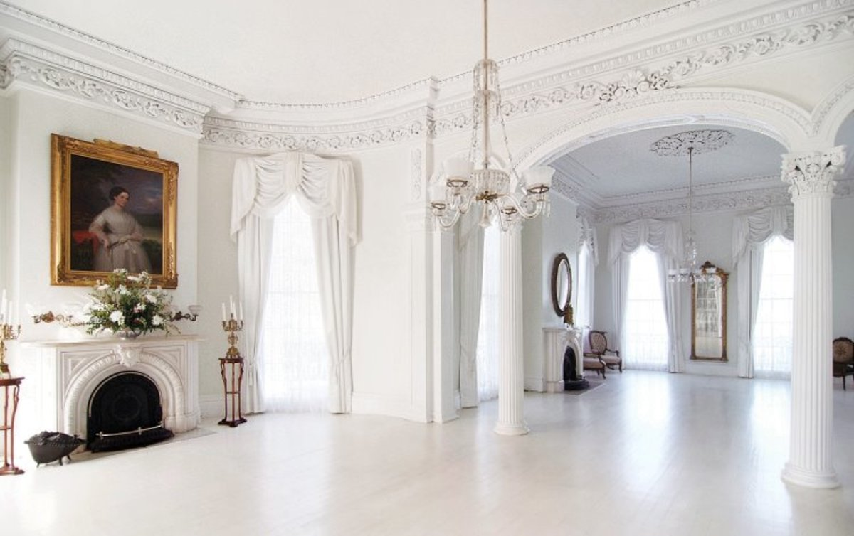 White Ballroom within the mansion.