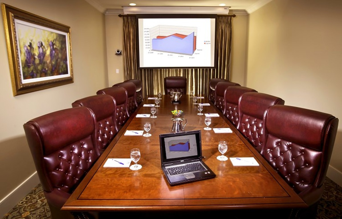 One of the conference rooms, available at Nottoway.