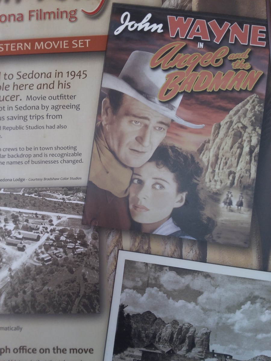 A very young John Wayne and Gail Russell in Angel and the Badman.