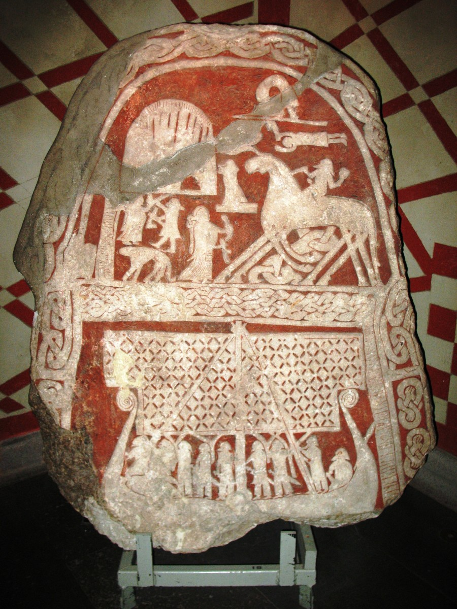 Picture stone from Tjängvide, Alskog Parish, Gotland, Sweden.